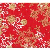 Decopatch Paper - Number 482 - red & Gold Snowflake